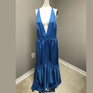 Zac Posen Solid Ruffled Woven Gown Size 12 $890